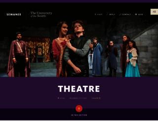 theatre.sewanee.edu screenshot
