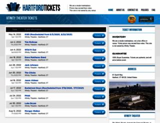 theatrehartford.com screenshot
