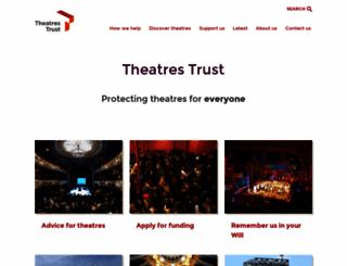 theatrestrust.org.uk screenshot