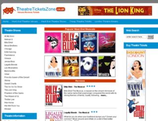 theatreticketszone.co.uk screenshot