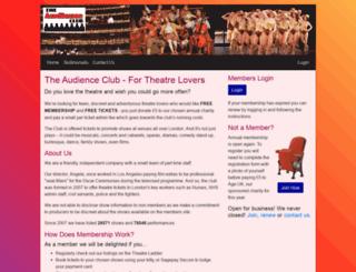 theaudienceclub.com screenshot