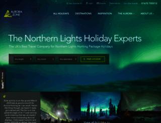 theaurorazone.com screenshot