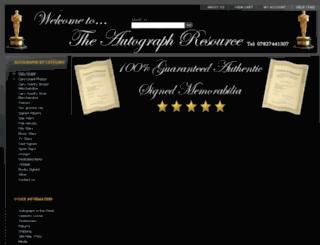 theautographresource.com screenshot