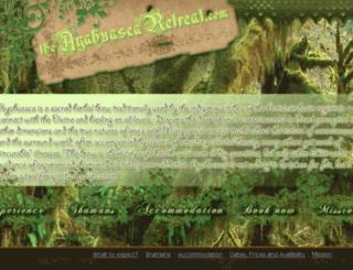 theayahuascaretreat.com screenshot
