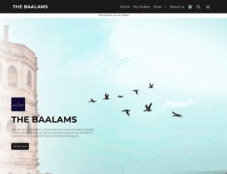 thebaalams.com screenshot