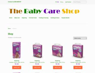 thebabycareshop.com screenshot