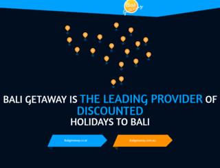 thebaligetaway.com screenshot