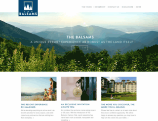 thebalsams.com screenshot