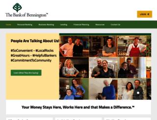 thebankofbennington.com screenshot