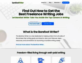 thebarefootwriter.com screenshot
