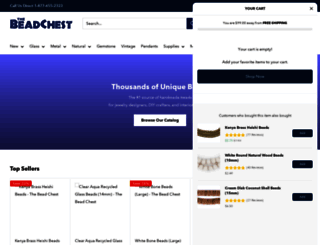 thebeadchest.com screenshot