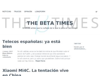 thebetatimes.com screenshot
