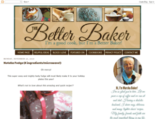thebetterbaker.blogspot.com screenshot