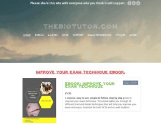 thebiotutor.com screenshot
