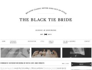 theblacktiebride.com screenshot