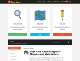 theblogbowl.in screenshot