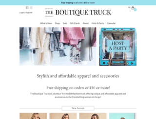 theboutiquetruck.com screenshot