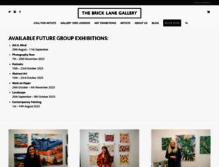 thebricklanegallery.com screenshot