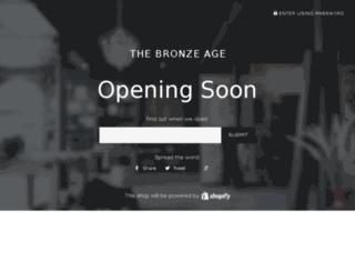 thebronzeage.in screenshot