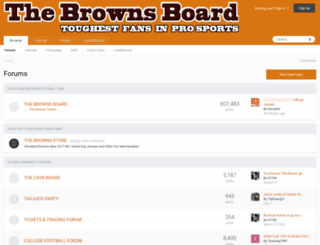 thebrownsboard.com screenshot