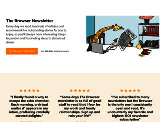 thebrowser.com screenshot