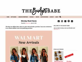thebudgetbabe.com screenshot