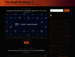 thebugfreeblog.blogspot.it screenshot