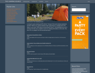thecampingsource.com screenshot