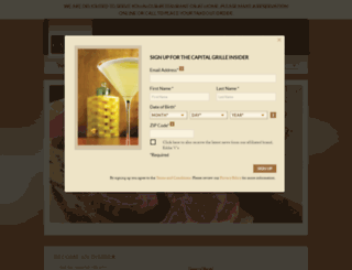 thecapitalgrille.com screenshot