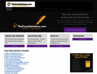 thecasesolutions.com screenshot