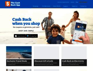 thecashbackapp.com screenshot