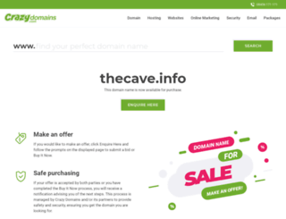 thecave.info screenshot