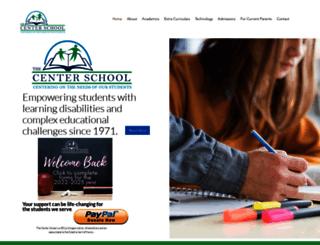 thecenterschool.com screenshot