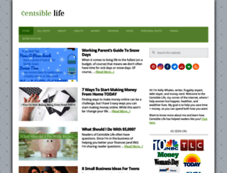 thecentsiblelife.com screenshot