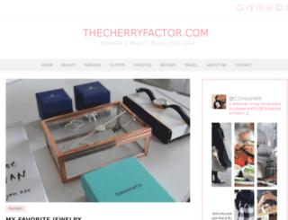 thecherryfactor.com screenshot
