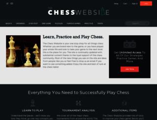thechesswebsite.com screenshot