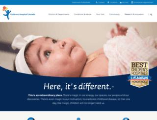 thechildrenshospital.org screenshot