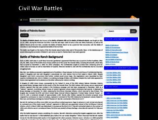 thecivilwarbattles.blogspot.com screenshot