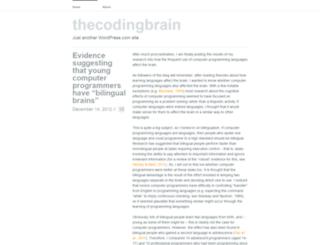 thecodingbrain.wordpress.com screenshot