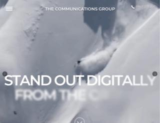 thecommunicationsgroup.com screenshot