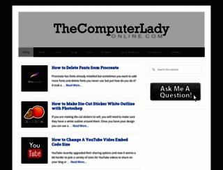 thecomputerladyonline.com screenshot