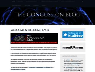 theconcussionblog.com screenshot