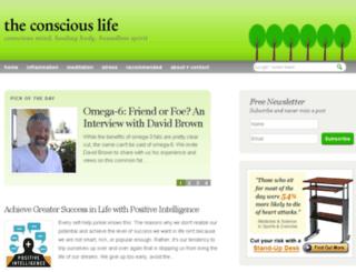 theconsciouslife.com screenshot
