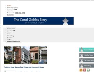 thecoralgablesstory.com screenshot