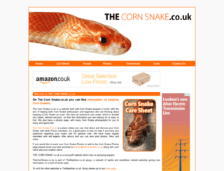thecornsnake.co.uk screenshot