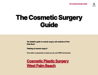 thecosmeticsurgeryguide.org screenshot