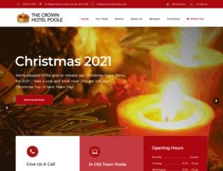 thecrownhotelpoole.com screenshot