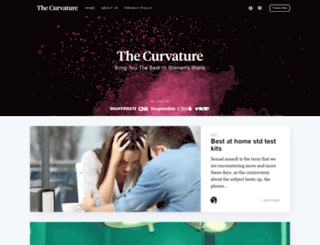 thecurvature.com screenshot