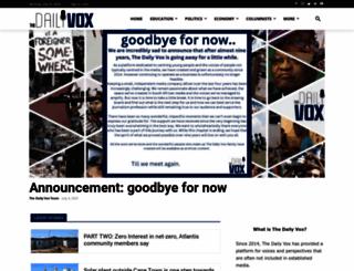 thedailyvox.co.za screenshot