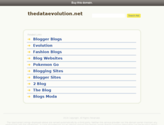 thedataevolution.net screenshot